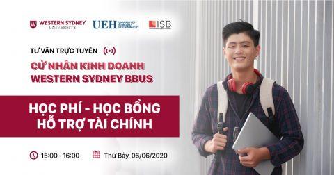 Tư vấn trực tuyến 2020 – Cử nhân Kinh doanh Western Sydney BBUS: Học phí – Học bổng – Hỗ trợ tài chính