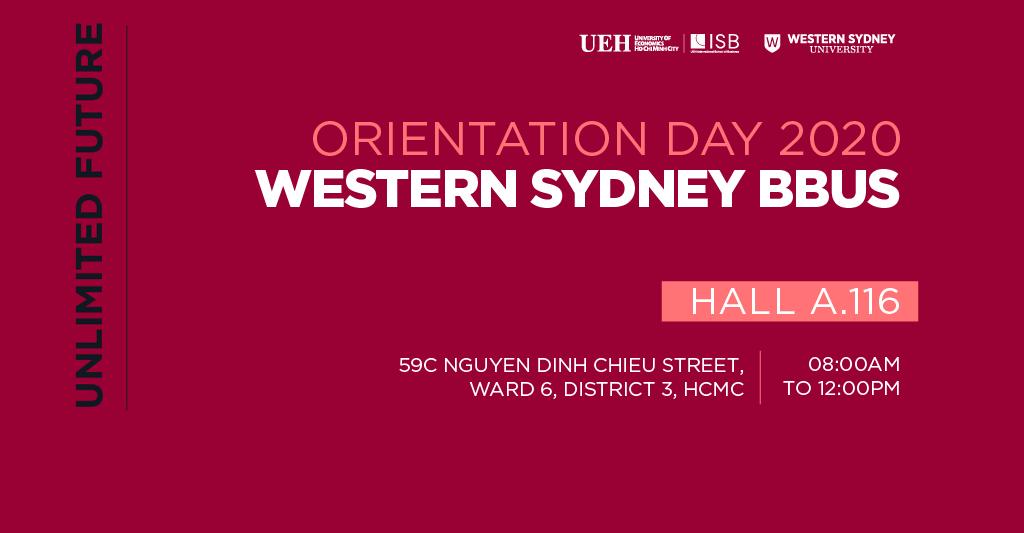 Lễ Khai giảng Chương trình Cử nhân Kinh doanh Western Sydney BBUS 2020