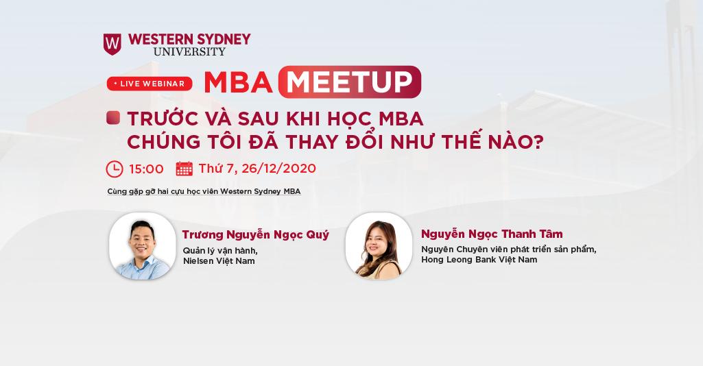 MBA Meetup: Trước và sau khi học MBA – Chúng tôi đã thay đổi như thế nào?