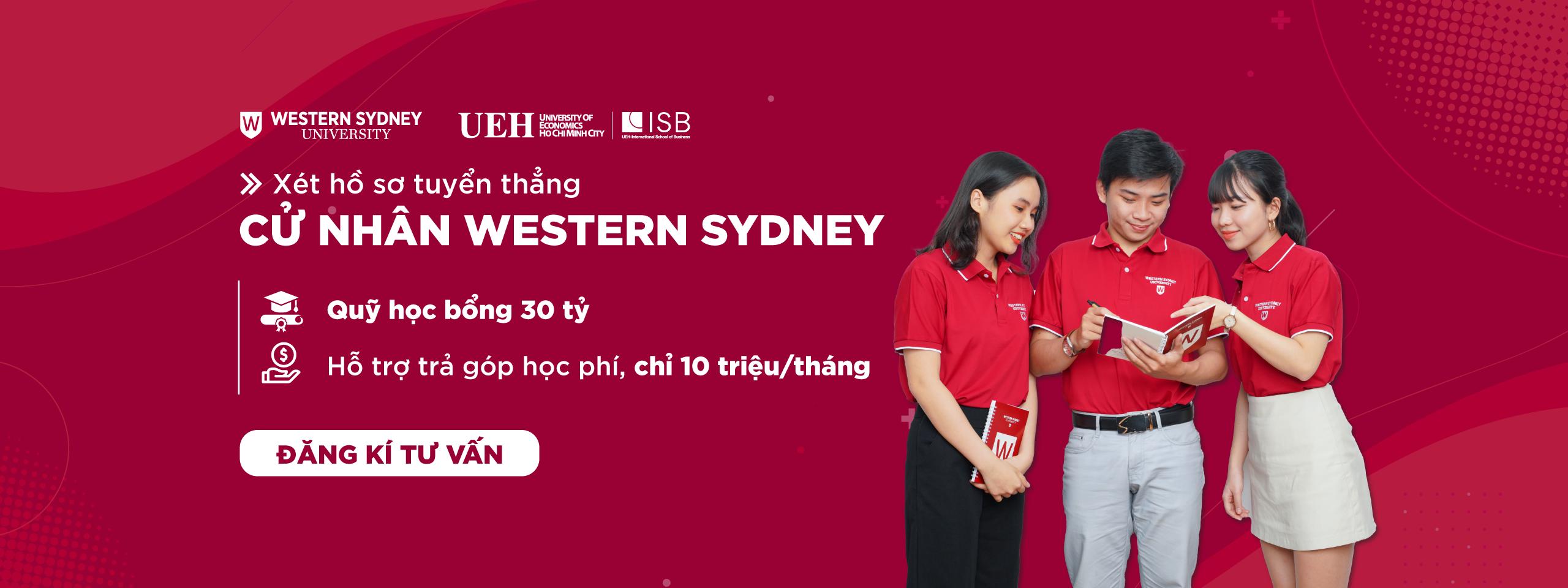 Tuyển sinh Cử nhân Western Sydney năm 2021