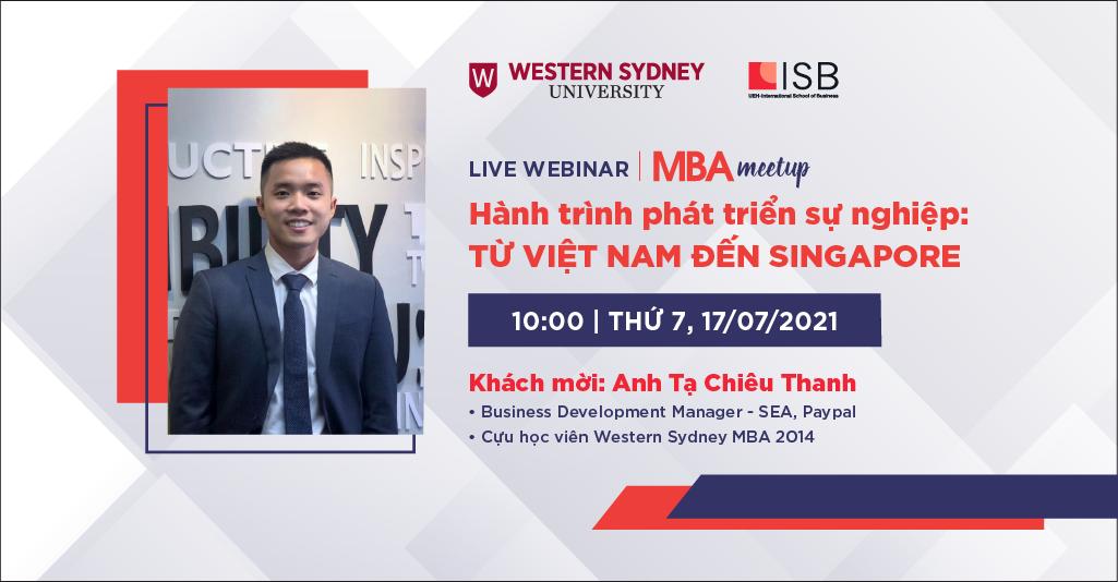 MBA Meetup: Hành trình phát triển sự nghiệp: Từ Việt Nam đến Singapore