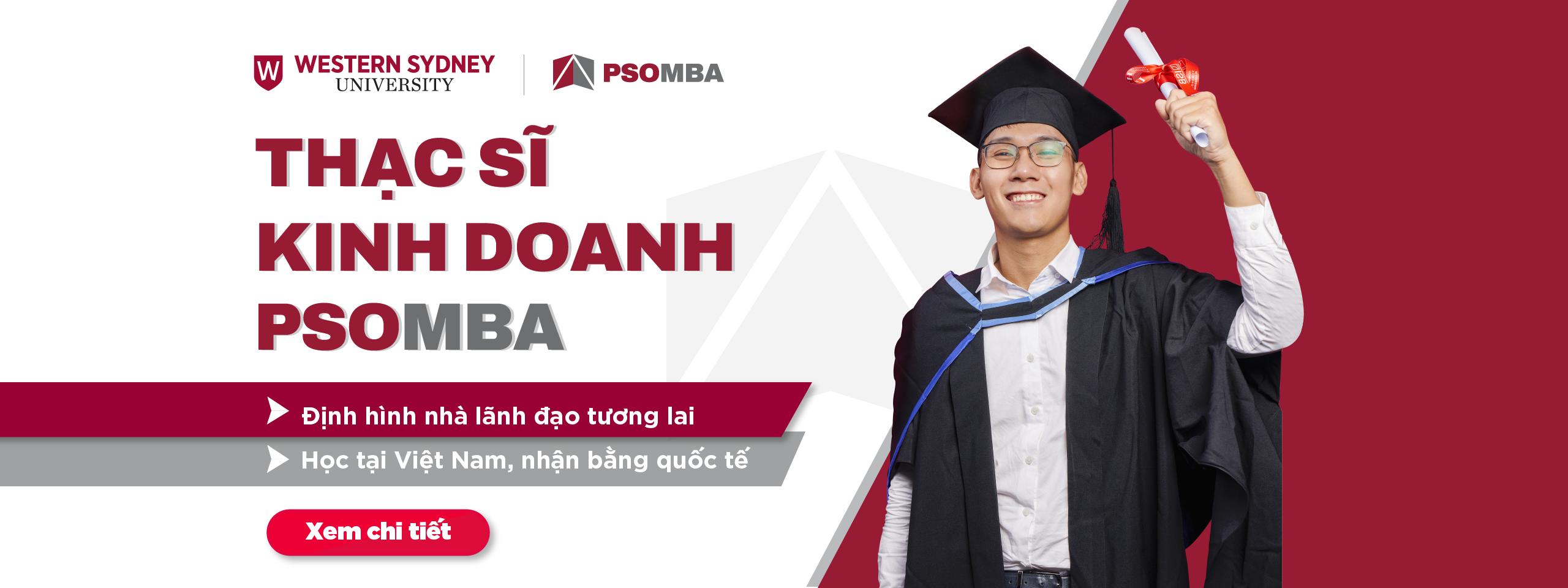 Tuyển sinh Thạc sĩ Kinh doanh PSO MBA năm 2021
