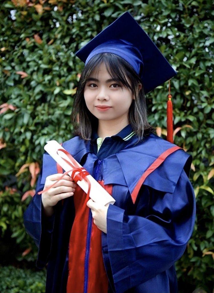 Bạn Bùi Ngọc Thảo Anh tân sinh viên của Đại học Western Sydney Việt Nam