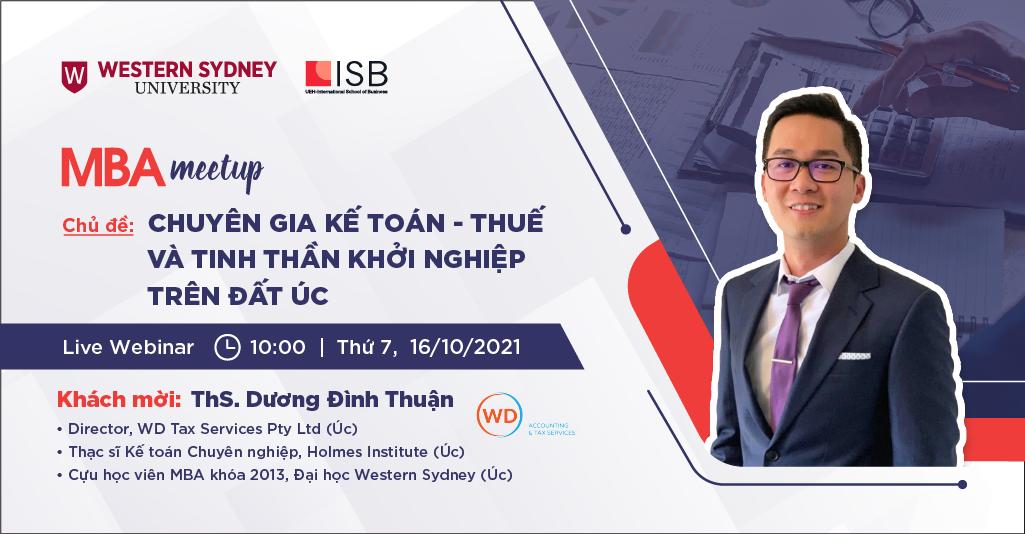 MBA Meetup: Chuyên gia Kế toán – Thuế và tinh thần khởi nghiệp trên đất Úc