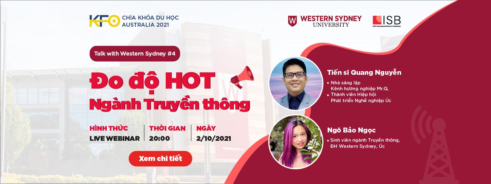 Chìa khóa du học Australia 2021: Đo độ HOT Ngành Truyền thông - Talk with WSU #4